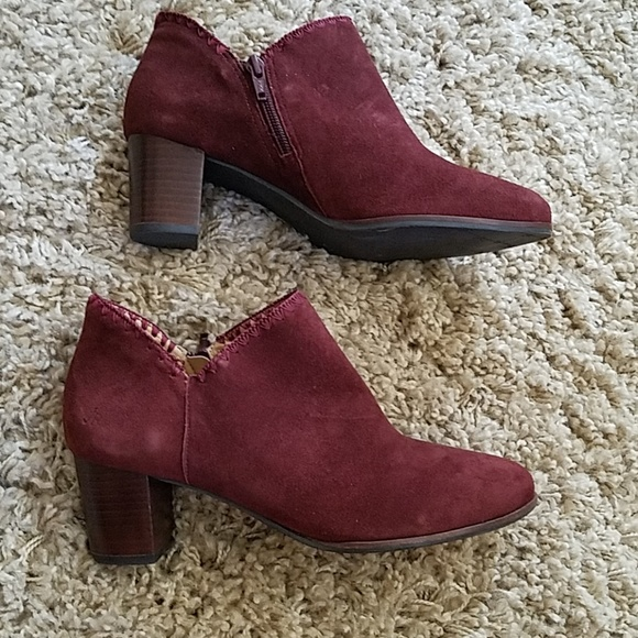 Jack Rogers Schuhes   Burgundy New Marlow Burgundy  Suede Bootie   Poshmark 6b4b40